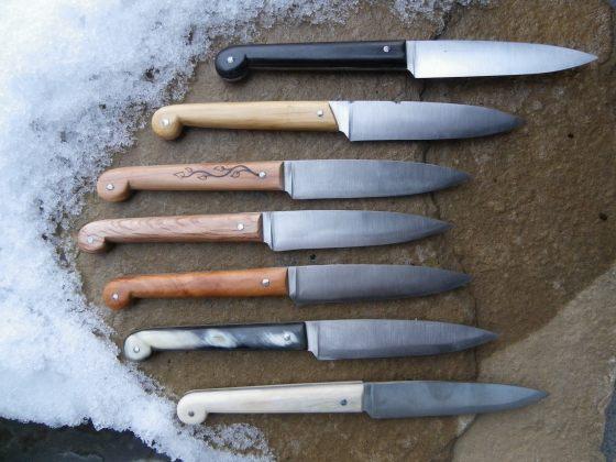 Cuchillo forjado cuchillos del pirineo for Cuchillos mesa para carne